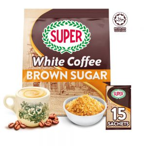 SUPER Charcoal Roasted Heritage White Coffee Brown Sugar – 15 sachets