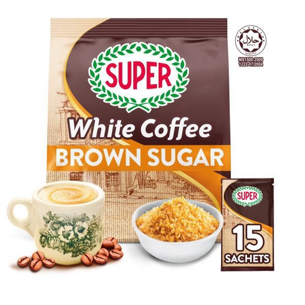 SUPER Charcoal Roasted Heritage White Coffee Brown Sugar - 15 sachets