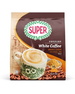 SUPER Charcoal Roasted Heritage White Coffee Brown Sugar 3 In 1 36G X 15 sachets – 1674989