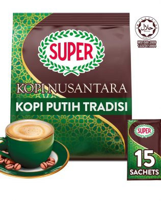 SUPER Kopi Nusantara 3 In 1 White Coffee  33G X 15 sachets – 1674798