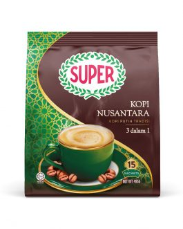 SUPER White Coffee 3in1 Nusantara – 15 sachets