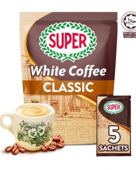 SUPER Charcoal Roasted Heritage White Coffee Classic 3in1 – 5 sachets (Small)