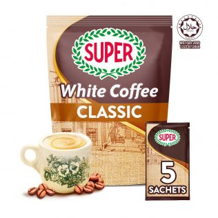 SUPER Charcoal Roasted Heritage White Coffee Classic 3in1 - 5 sachets (Small)