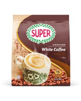 SUPER Charcoal Roasted Heritage White Coffee Classic 3in1 – 15sachets