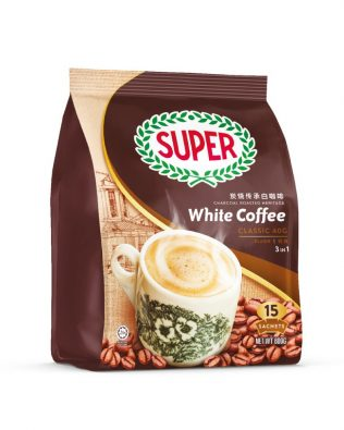 SUPER Charcoal Roasted Heritage White Coffee Classic 3 In 1 40G X 15sachets – 1674972