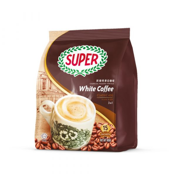 SUPER Charcoal Roasted Heritage White Coffee Classic 3in1 - 15sachets
