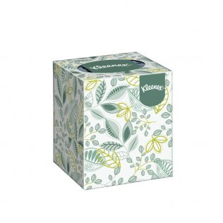 Kleenex® Facial Tissues Cube 17742 - White, (1 Box x 50 sheets) & 3 ply