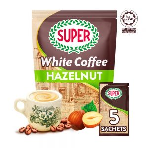 SUPER Charcoal Roasted Heritage White Coffee Hazelnut – 5 sachets (Small)