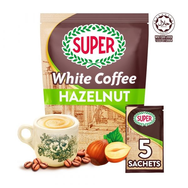 SUPER Charcoal Roasted Heritage White Coffee Hazelnut - 5 sachets (Small)
