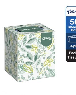 Kleenex® Facial Tissues Cube 17742 – White, (1 Box x 50 sheets) & 3 ply