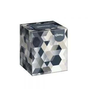 Kleenex® Facial Tissues Flat 17561 - White, (1 Box x 75 sheets) & 2 ply