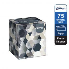 Kleenex® Facial Tissues Cube 17741 – White, (1 box x 75 sheets) & 2 ply