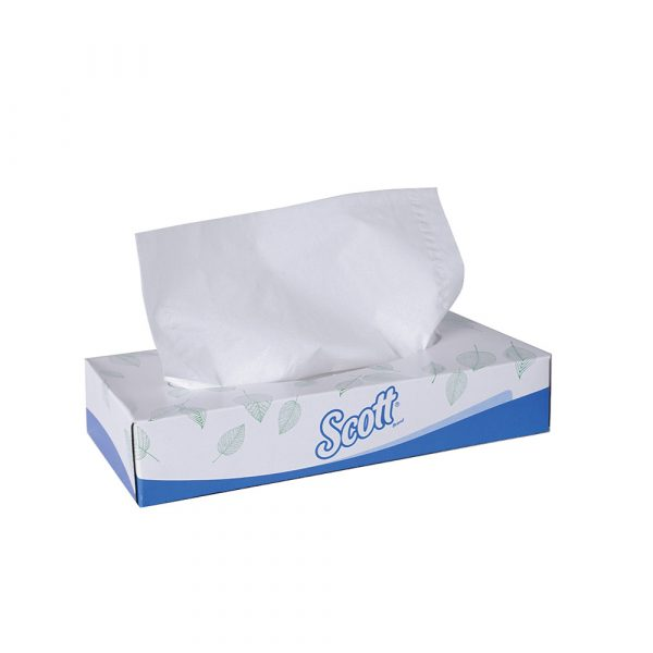 Scott® Facial Tissue 10631 - White, (1 box x 50 sheets) & 2 ply