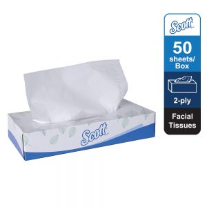 Scott® Facial Tissue 10631 – White, (1 box x 50 sheets) & 2 ply