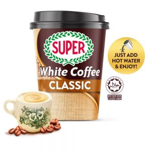 SUPER Charcoal Roasted Heritage White Coffee Classic 3in1 Ready-to-go Cup