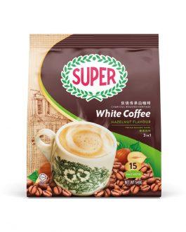 SUPER Charcoal Roasted Heritage White Coffee Hazelnut – 15sachets