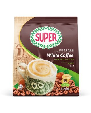 SUPER Charcoal Roasted Heritage White Coffee Hazelnut - 15sachets