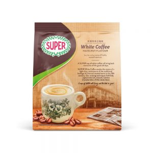 SUPER Charcoal Roasted Heritage White Coffee Hazelnut – 15sachets