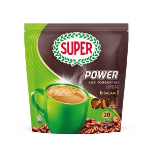 SUPER Power 6in1 Coffee with Tongkat Ali, Ginseng and Misai Kucing – 20 sticks