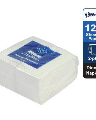 Kleenex® Dinner Napkin 78401 – White, (1 pack x 125 sheets) & 2 ply