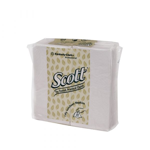 Scott® Luncheon Napkin 78031- White, (1pack x 100sheets) & 1 ply