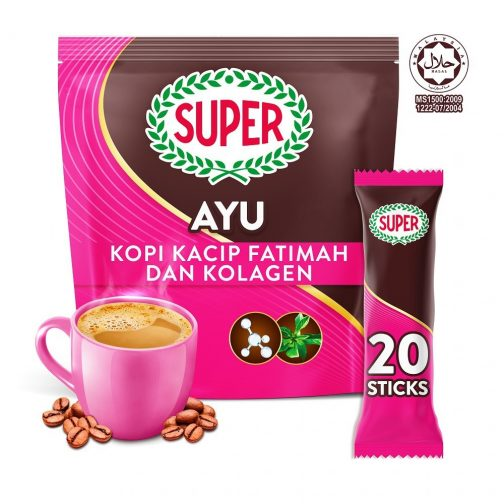 SUPER Ayu 5in1 Coffee with Kacip Fatimah and Collagen - 20 Sticks