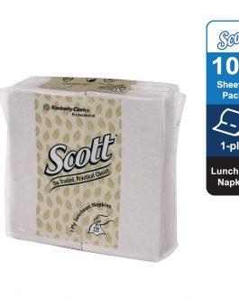 Scott® Luncheon Napkin 78031- White, (1pack x 100sheets) & 1 ply