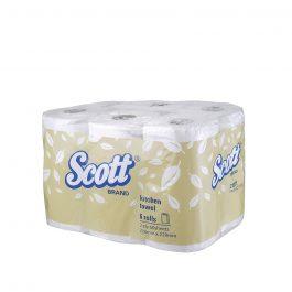 Scott® Kitchen Towel 21271 – White, (1 pack x 6 x 60 sheets) & 2 ply (360 sheets)
