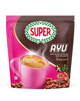 SUPER Ayu 5in1 Coffee with Kacip Fatimah and Collagen – 20 Sticks