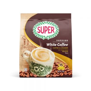 SUPER Charcoal Roasted Heritage White Coffee 2in1 Coffee & Creamer – 15sachets
