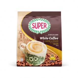 SUPER Charcoal Roasted Heritage White Coffee 2in1 Coffee & Creamer - 15sachets