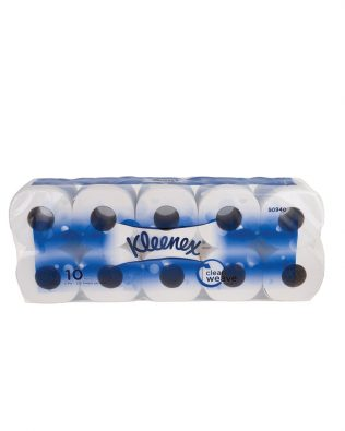 Kleenex® Standard Roll Toilet Tissue 50940 - White, (10 roll x 220 sheets) & 3 ply (2200 sheets)