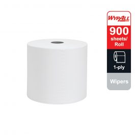 WypAll® X60 Wipers, Jumbo Roll, 93495 – White, (1 Roll x 900 sheets) & 1 ply