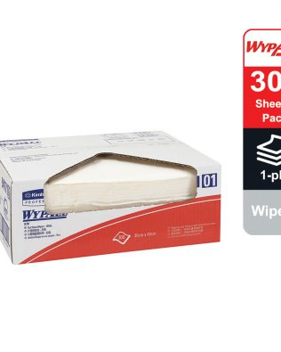 WypAll® X70 Wipers, flat sheet, 94171 – White, (1 pack x 300 sheets) & 1 ply