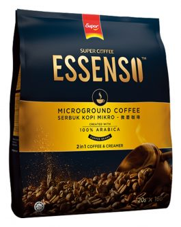 Essenso Microground Coffee 2 in 1 Coffee & Creamer Coffee Beans 16G X 20 Sachets – 1674109