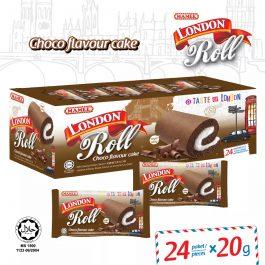 Mamee London Roll Chocolate Choco Flavour Cake 24 Paket/ Piece – 6002