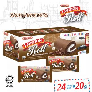 Mamee London Roll Chocolate Choco Flavour Cake 24 Paket/ Piece – 6002