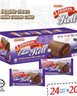 Mamee London Roll Double Chocolate Flavour Cake 24 Paket/ Piece – 6001