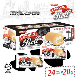 Mamee London Roll Milk Flavour Cake 24 Paket/ Piece – 6006