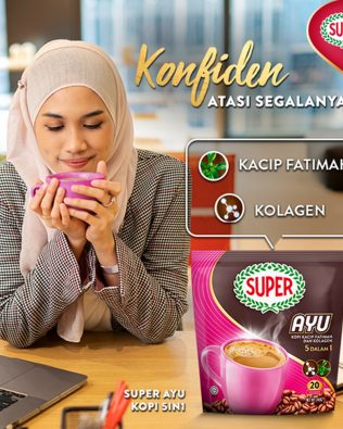 Super Ayu 5 in 1 Kacip Fatimah dan Kolagen Coffee 22G X 20 sachets – 1674991