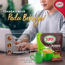 SUPER Power 6in1 Coffee with Tongkat Ali, Ginseng and Misai Kucing 30G X 20 sachets – 1674994
