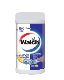 Walch Multi-Purpose Disinfectant Wipes Fresh Lemon 75pcs