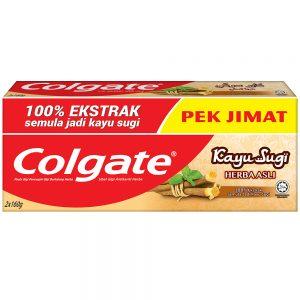 Colgate Kayu Sugi Original Toothpaste 160g Twinpack