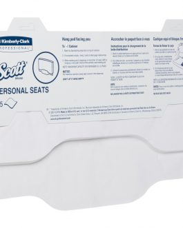 Scott® Personal Seat Covers 07410 – White, 24×125 (3,000 covers)