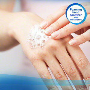 Scott® Moisturizing Foam Hand Sanitizer 91590 – Clear, Fruity Cucumber Scent, 1×1.2 Ltr (total 1.2 Ltr)