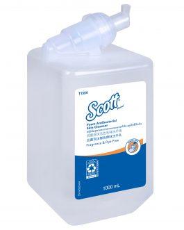 Scott® Foam Antibacterial Skin Cleanser Fragrance & Dye Free 11554 – Clear, Unscented, 1×1 Ltr (total 1 Ltr)