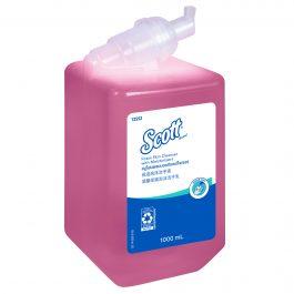 Scott® Foam Skin Cleanser with Moisturisers 12552 – Pink, Floral scent, 1×1 Ltr (total 1 Ltr)