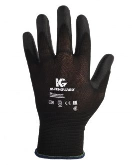 KleenGuard™ G40 Polyurethane Coated Hand Specific Gloves 13839 – Black,  L/9,  1×12 pairs (24 gloves)