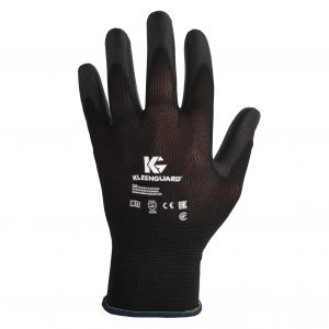KleenGuard™ G40 Polyurethane Coated Hand Specific Gloves 13839 – Black,  L/9,  1×12 pairs (24 gloves)