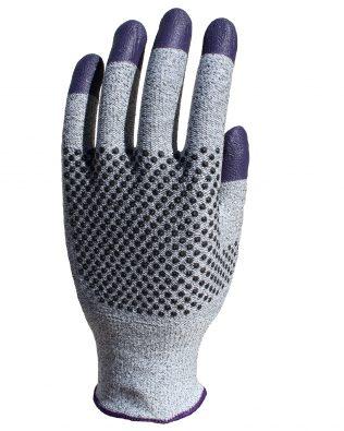 KleenGuard™ G60 Endurapro™ Dual Grip™ Purple Nitrile Gloves 97432 Grey & Purple,  L/9,  1×12 (12 gloves)